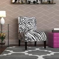 Aberly Zebra Pattern Accent Chair