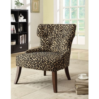 Claribel Leopard Fabric Accent Chair