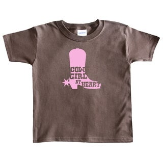 Rocket Bug Cowgirl at Heart Cowgirl Boot Toddler T-shirt (3 options available)