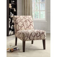 Aberly Scribble Pattern Accent Chair