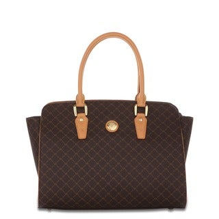 Rioni Signature Brown The Brief Satchel Bag