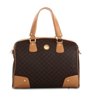 Rioni Signature Brown Bowler Satchel Bag