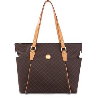 Rioni Signature Brown Cassie Organizer Bag