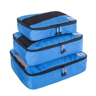 Suvelle 3-peice Set Small, Medium, Large and Slim Travel Luggage Organizer Packing Cubes
