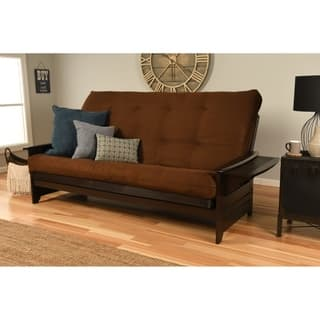 Somette Phoenix Queen Size Futon Sofa Bed With Hardwood Frame And Suede Innerspring Mattress Https