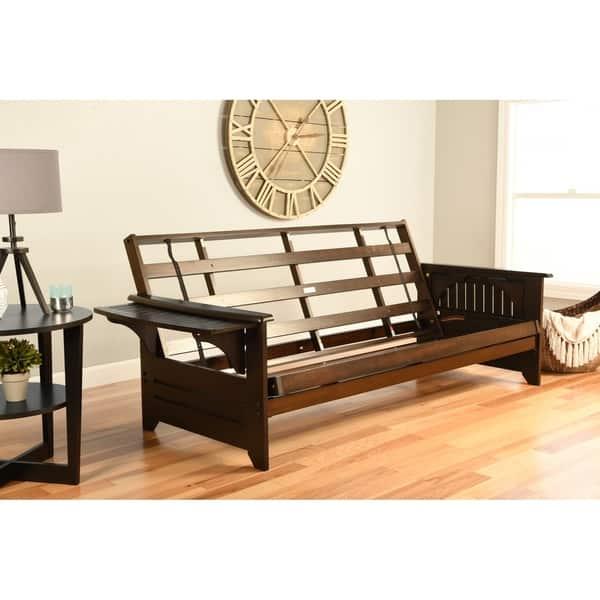 Porch Den Desoto Hardwood Suede Queen Size Futon Bed