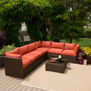 Palo Alto 7 Piece Wicker Sofa Set