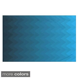Stripes Print Teal/ Blue/ Aqua/ Green/ Dark Grey/ Rust/ Purple 50 x 60-inch Throw Blanket