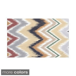 Stripes Print Navy Blue and Taupe/ Teal and Brown/ Green and Red/ Green 50 x 60-inch Throw Blanket