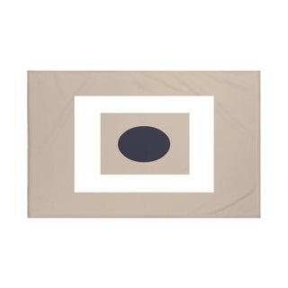 Geometric Print Navy Blue and Green/ Navy Blue and Yellow/ Red and Blue/ Taupe and Navy Blue 50 x 60-inch Throw Blanket
