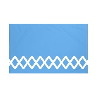Geometric Print Navy Blue/ Blue/ Green/ Grey/ Yellow 50 x 60-inch Throw Blanket (5 options available)
