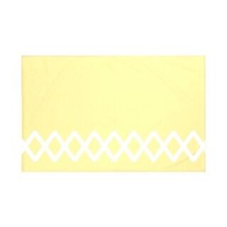 Geometric Print Navy Blue/ Blue/ Green/ Grey/ Yellow 50 x 60-inch Throw Blanket