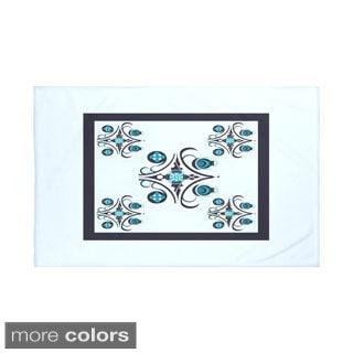 50 x 60-inch Geometric Print Throw Blankets