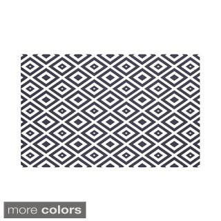50 x 60-inch Geometric Print Throw Blankets