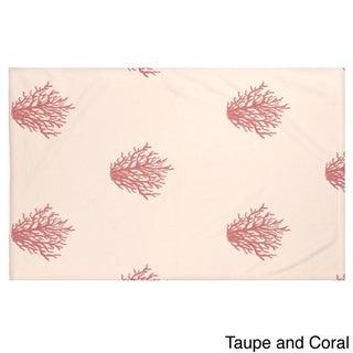 50 x 60-inch Coastal Print Throw Blankets