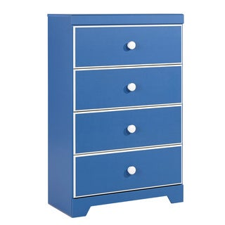 Signature Design By Ashley Bronilly Blue 4 Drawer Chest