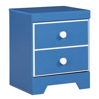 Signature Design By Ashley Bronilly Blue Night Stand