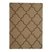 Herat Oriental Indo Hand-tufted Contemporary Wool Rug - 5' x 7'