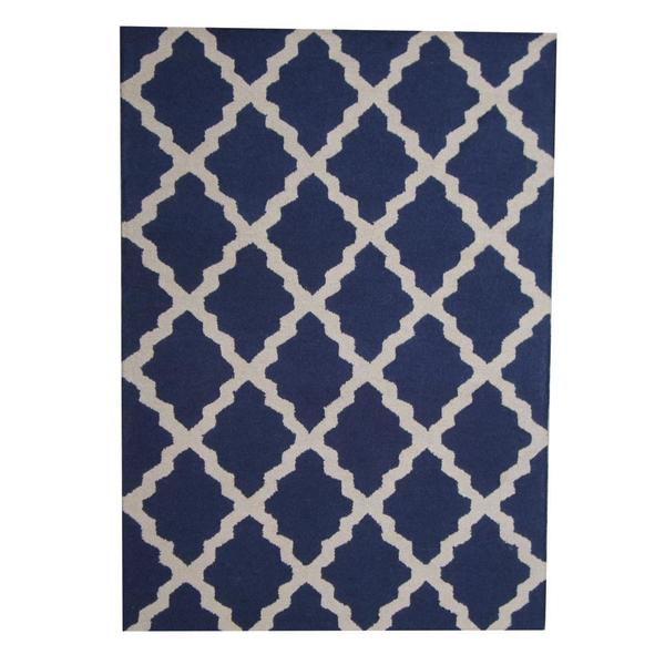 Handmade Herat Oriental Indo Contemporary Wool Rug (India) - 5' x 7'