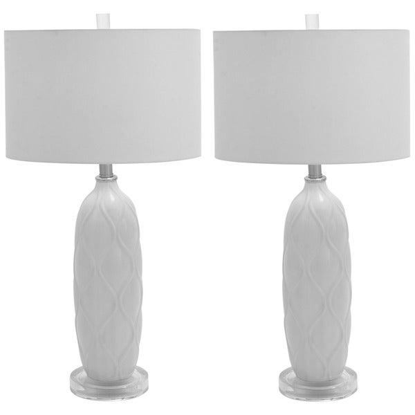Bianca 1-light 26-inch Ceramic Table Lamp (Set of 2) - Free Shipping ...