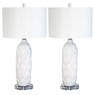 Bianca 1-light 26-inch Ceramic Table Lamp (Set of 2)