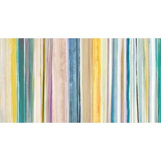 'Spring Stripes I' Gallery Wrapped Canvas Wall Art