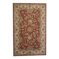 Herat Oriental Indo Hand-tufted Kashan Wool Rug (5' x 8') - 5' x 8'
