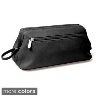 Royce Leather Colombian Vaquetta Cowhide Toiletry Travel Wash Bag
