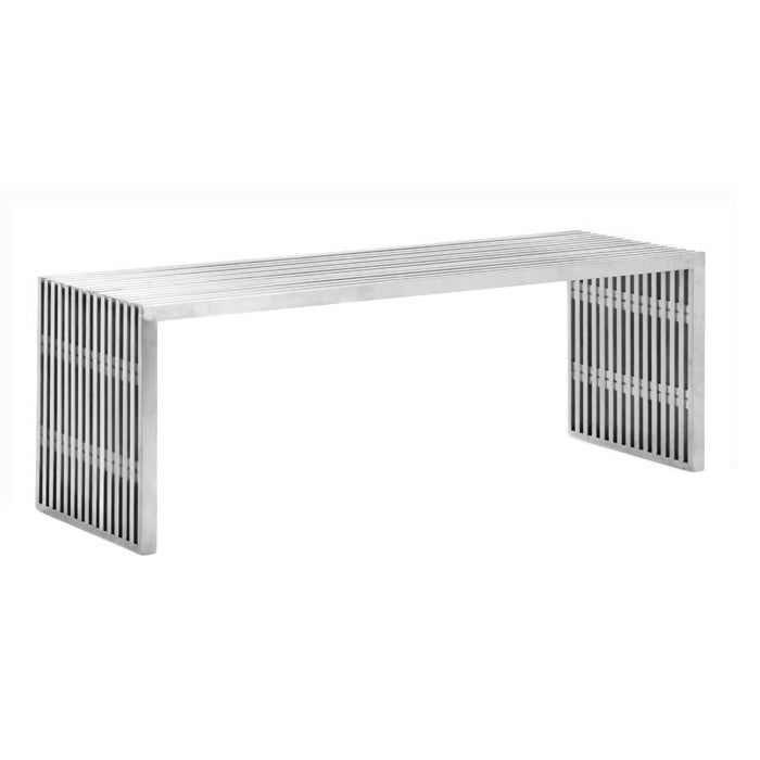 Mod Made Cubellis Stainless Steel Bench (Silver) (Metal)