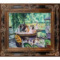 Pierre-Auguste Renoir La Grenouillere (The Frog Pond) Hand Painted Framed Canvas Art