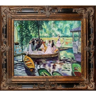 Link to Pierre-Auguste Renoir La Grenouillere (The Frog Pond) Hand Painted Framed Canvas Art Similar Items in Canvas Art