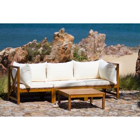 Safavieh Lynwood Modular Brown/ Beige Outdoor Sectional