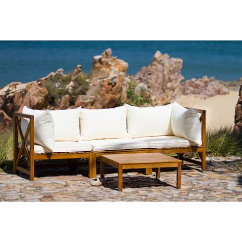 Safavieh Outdoor Living Lynwood Modular Brown/ Beige Sectional