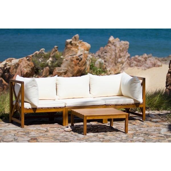 Safavieh Outdoor Living Lynwood Modular Brown/ Beige Sectional