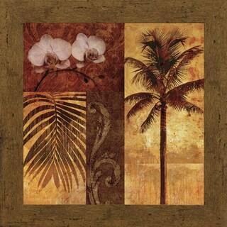 Keith Mallett 'Sunset Beach ll' 31 x 31 Framed Art Print