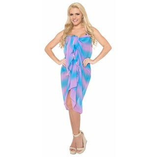 La Leela Lightweight Gradient Chiffon 5 oz Bikini Swimwsuit Wrap 72X42InchViolet
