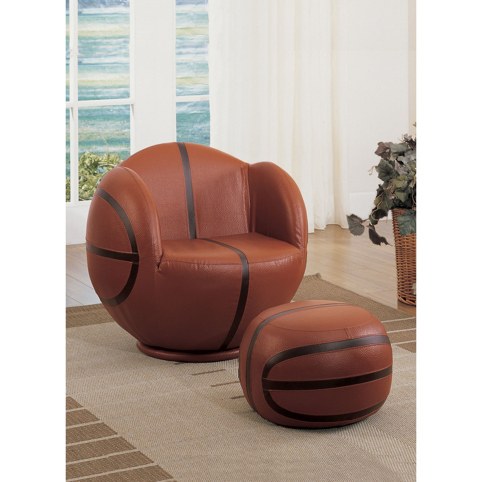Peachy All Star 2 Piece Basketball Youth Chair And Ottoman Unemploymentrelief Wooden Chair Designs For Living Room Unemploymentrelieforg