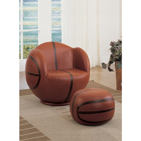 All Star 2-Piece Basketball Youth Chair and Ottoman