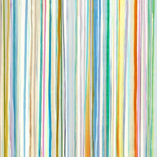 'Spring Stripes III' Gallery Wrapped Canvas Wall Art