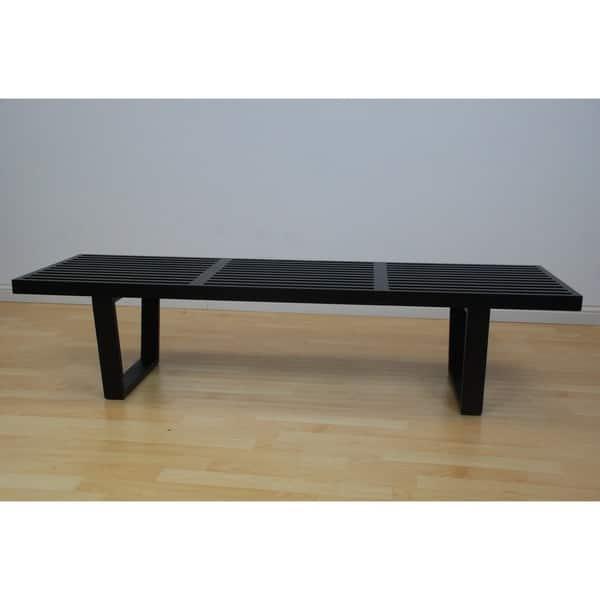 Sensational Shop Mod Made 5 Ft Contemporary Wooden Slat Bench Black Ncnpc Chair Design For Home Ncnpcorg