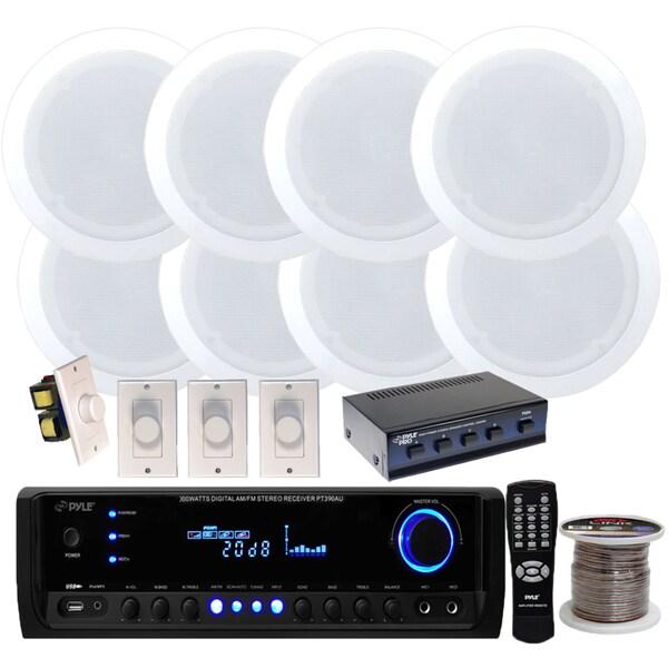 Shop Pyle Kthsp590 300 Watt Receiver With Speaker Selector