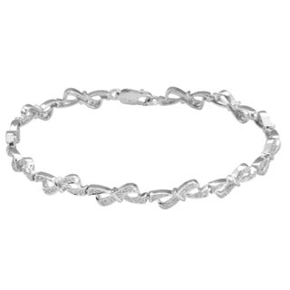 Divina Sterling Silver 1/3ct TDW Diamond Fashion Bracelet (H-I, I2-I3)