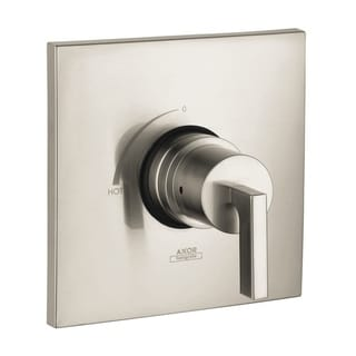 Axor Citterio Pressure Balance Brushed Nickel Trim with Lever Handle