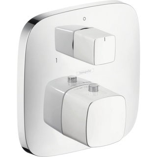 Hansgrohe PuraVida Thermostatic White/Chrome Shower Trim with Volume Control and Diverter
