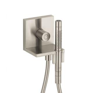 Axor Starck Volume Control, , Wall Outlet And Holder Brushed Nickel Handshower