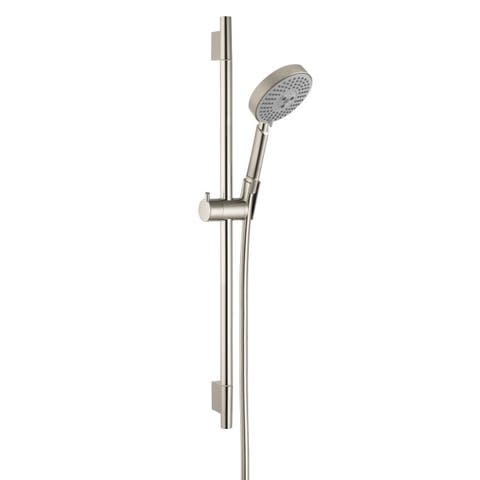 Hansgrohe Unica S Brushed Nickel Wallbar Shower Set