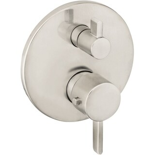 Hansgrohe Ecostat S Thermostatic Trim with Volume Control 04230820 Brushed Nickel