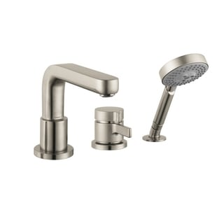 Hansgrohe Metris S 3 Hole Thermostatic Trim Brushed Nickel Tubfiller