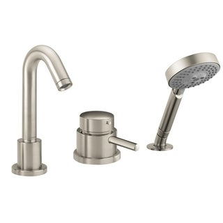 Hansgrohe Talis S 3 Hole Thermostatic Trim Brushed Nickel Tubfiller