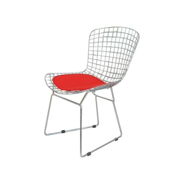 Admirable Shop Mid Century Chrome Wire Dining Chair With Faux Leather Beatyapartments Chair Design Images Beatyapartmentscom